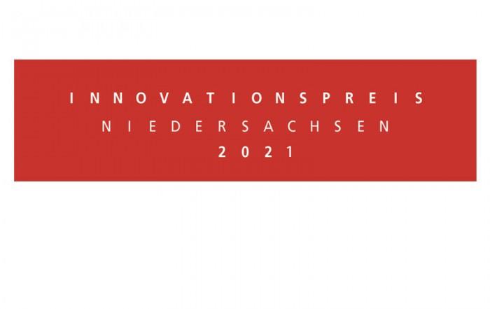 rotes Logo mit weißer Schrift Innovationspreis 2021